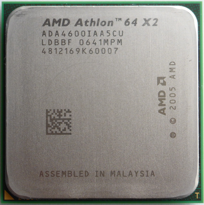 AMD Athlon 64 X2 4600+ socket AM2 (Windsor, 89W) ADA4600IAA5CU 01.jpg
