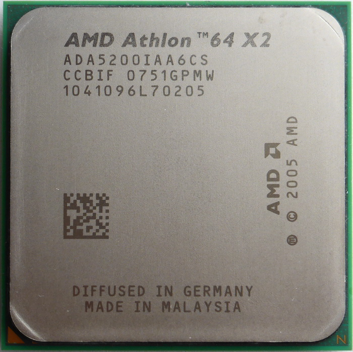 AMD Athlon 64 X2 5200+ socket AM2 (Windsor, 89W) ADA5200IAA6CS 01.jpg