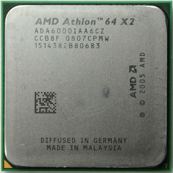 AMD Athlon 64 X2 6000+ socket AM2 (Windsor, 89W) ADA6000IAA6CZ 01.jpg