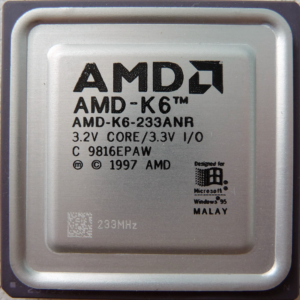 Xhoba's cpu collection - View details on AMD K6 233