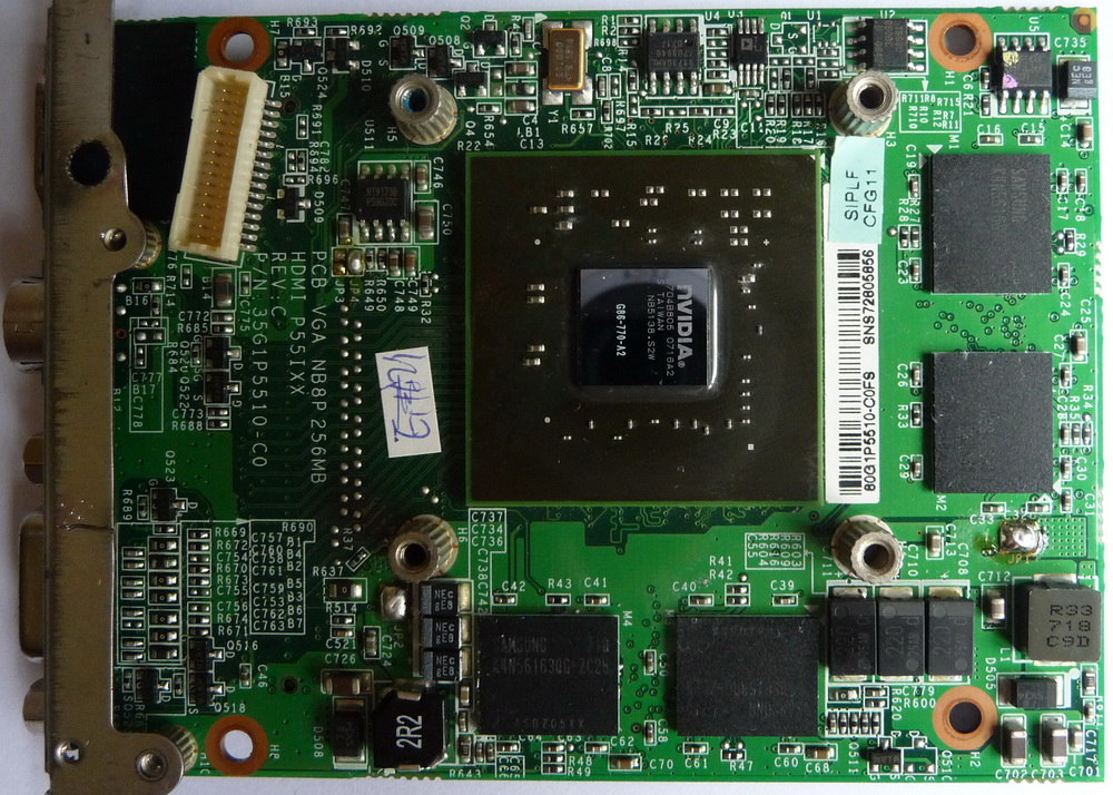 Carte PCI-E NVIDIA GeForce 8600M GS 256Mo 01.jpg