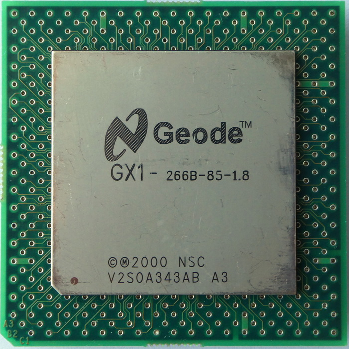 National Semiconductor Geode GX1-266B (PGA Adaptor) 01.jpg